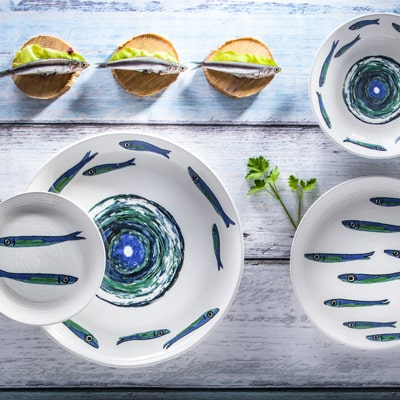decoro fish, ceramiche italia