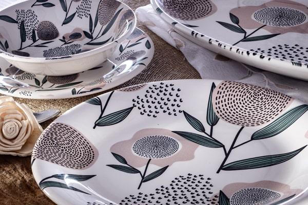 ceramiche italia piatti decoro fiore