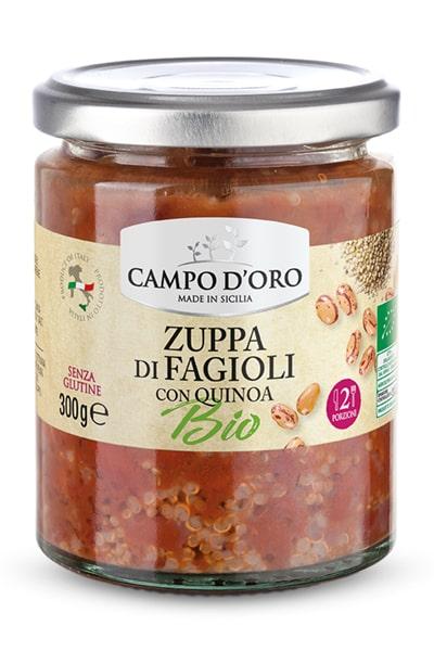 zuppa faggioli bio300g, campodoro