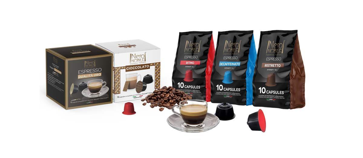 capsule caffè, nero nobile
