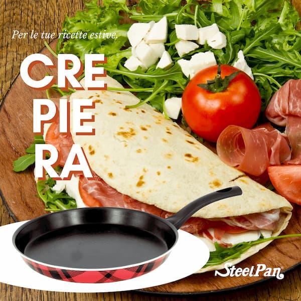 crepiera, steel pan