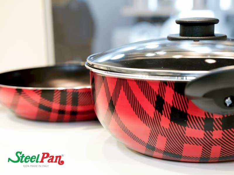 pentola decoro scozzese, steel pan