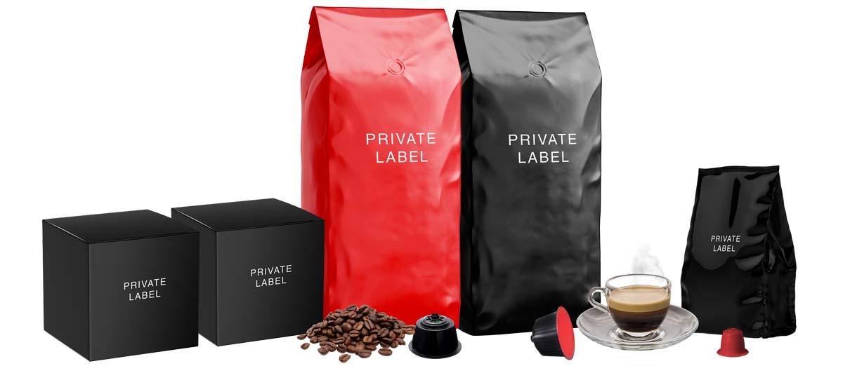 marca privata caffè, nero nobile