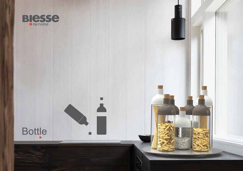linea barattoli bottle doppia apertura eco plast