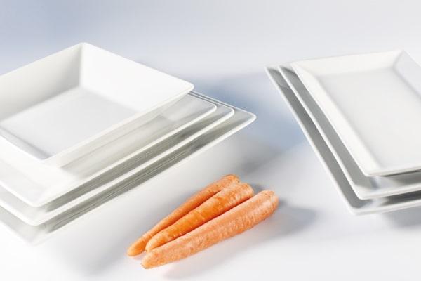 saturnia piatti porcellana bianca linea kimi