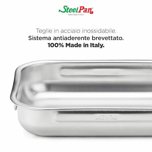 teglia acciaio inox Steel Pan
