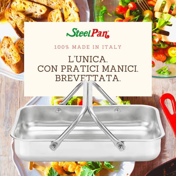 teglia on manici Steel Pan