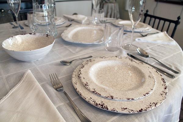 articoli per la tavola in melamina decoro craq, cartaffini