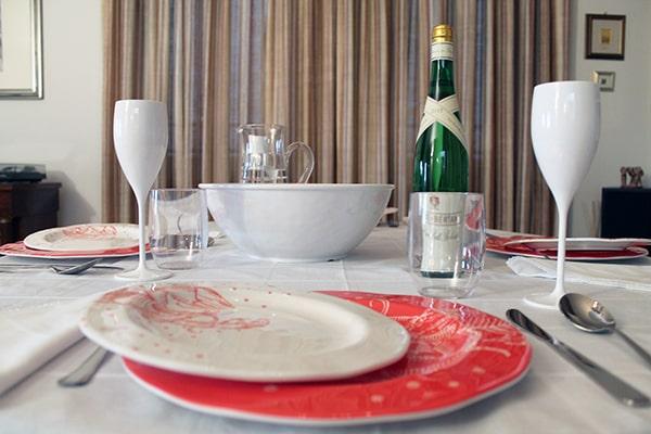 articoli per la tavola in melamina decoro horu, cartaffini