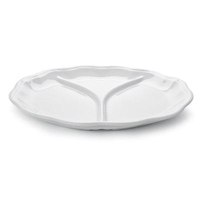piatto tris in porcellana linea millenium, mps manifattura porcellane saronno