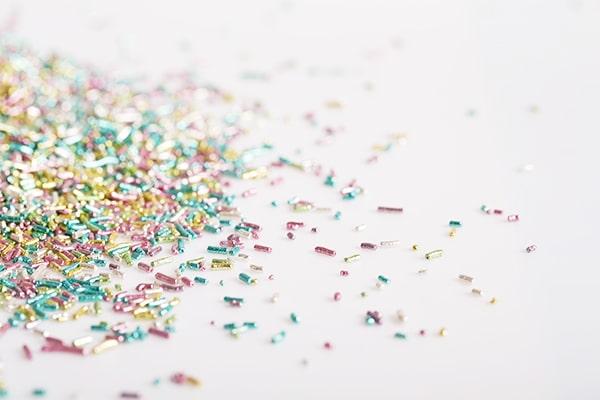 decorazioni per dolci stick di zucchero, pregi e confetti