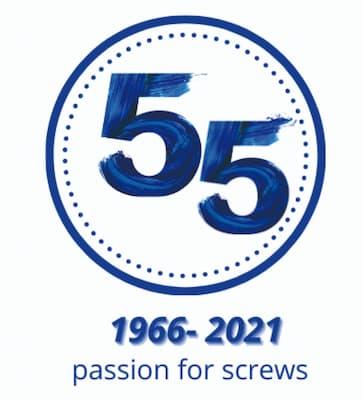 logo 55esimo anniversario magazzini manzanesi