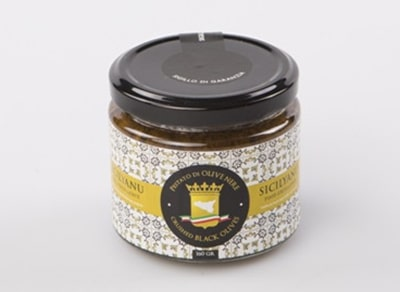 pestato di olive nere sicilyanu food excellence